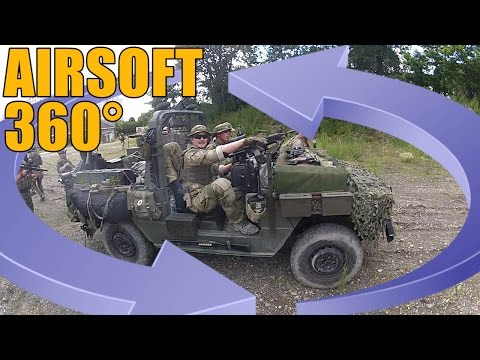AIRSOFT 360° VIDEO | TBC | P4 OFF-ROAD VEHICLE AT LAFAYETTE 2 ( ENGLISH SUBS )