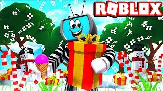NEW Winter Zone And GIANT Presents Roblox Ice Cream Simulator