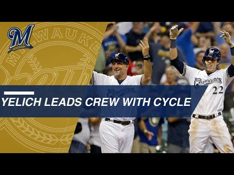 Christian Yelich's 2nd cycle of 2018