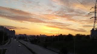 Закат над Черной горой и Демеевкой, 9 мая 2020 года