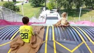 belle isle big slide open kids enjoying detroit august 2014