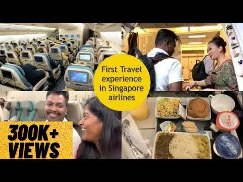 சிங்கப்பூர் விமான நிறுவனத்தில் முதல் பயண அனுபவம்|First Excited Travel in Singapore airlines|CHENNAI