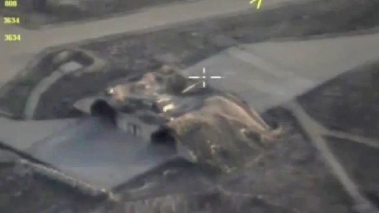 Download Russian drone shows Syrian air base after US strike
