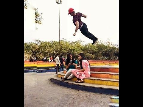 Girls Impressed To His Back Flip #tiktok Star Akash Singh