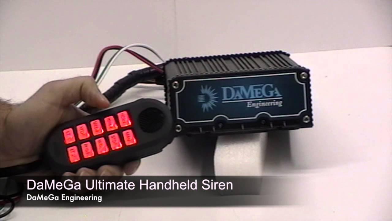 damega engineering ultimate handheld siren [ 1280 x 720 Pixel ]