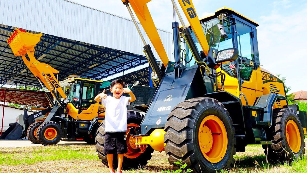 예준이의 포크레인 중장비 트럭 타보기 타요 버스 자동차 장난감 전동차 공구놀이 수리놀이 Kids Ride on Excavator Power Wheels Tractor