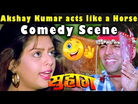 Akshay Kumar acts like a Horse | Comedy Scene from Movie Suhaag