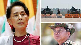 video: Aung San Suu Kyi's party demands her release as Myanmar generals tighten grip on power