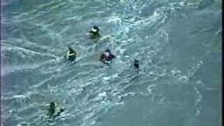 Swimmers challenge whirlpools & tide rips at Deception Pass