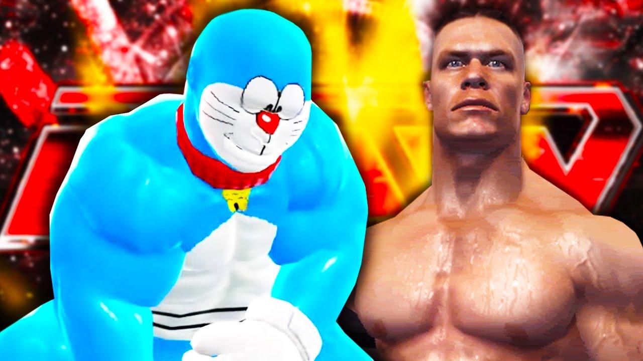 DOREMON VS JOHN CENA – WWE 2016 – Cùng Jaki Natsumi (Đô Vật Mỹ)