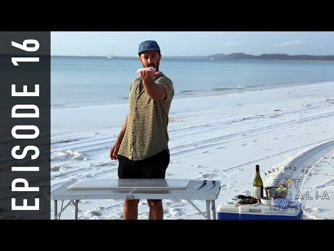 EP 16. Fishing on Fraser Island QLD | Andy & Ben Eat Australia
