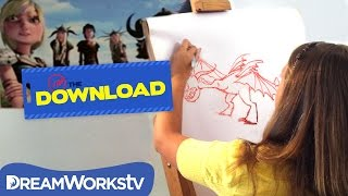 How to Draw a Dragon with DreamWorks Animation Artist | THE DREAMWORKS DOWNLOAD