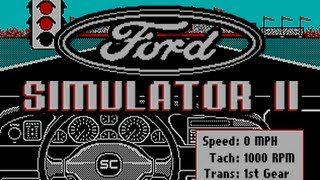 LGR - Ford Simulator II - DOS PC Game Review