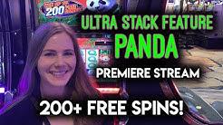 WOW!! FULL Screen of BONUS Symbols!! Ultra Stack Feature Panda Slot Machine!
