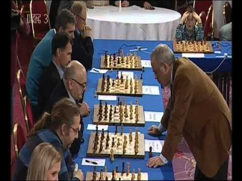 KASPAROV/ Simultaneous exhibition/Chess in school/Šah uz školu/Zagreb 27.12.015./HTV3/Live/ uživo/