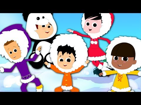 Five Little Eskimo | Nursery Rhymers Songs For Children | Video For Kids And Baby