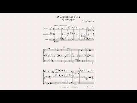 O Christmas Tree For Woodwind Trio Christmas Sheet Music