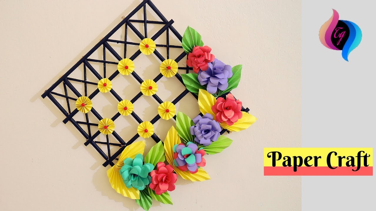 DIY - Wall Decoration Ideas With Paper Craft - Ways To ... on Wall Decoration Ideas At Home  id=70538