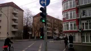 Berlynas (Berlin). Pėsčiųjų ir dviračių šviesoforai (2) (traffic lights for bicycles, pedestrians)