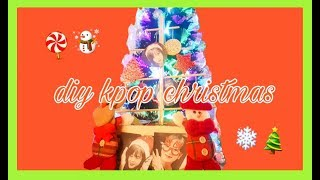 DIY KPOP CHRISTMAS ROOM DECOR (Kim Jisoo)