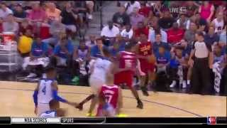 Andrew Wiggins Spin Move Two Handed Dunk LVSL
