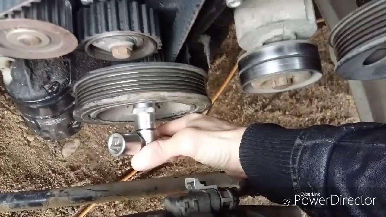 видео замены ремня грм на опель омега
