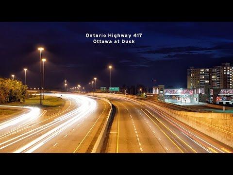 2016-10-01 Ontario Hwy 417 Ottawa at Dusk