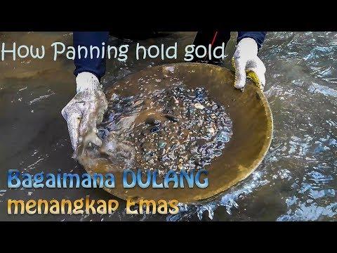 Tradisional : Bagaimana cara Dulang menangkap emas / How Panning hold gold
