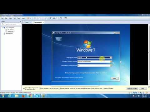 How to install windows 7 and vmware tools