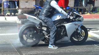 1/4 de milla olavarria, moto yamaha R1