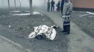 Герои Украины и их геройства! Жестокие кадры  24.01.2015 Мариуполь!