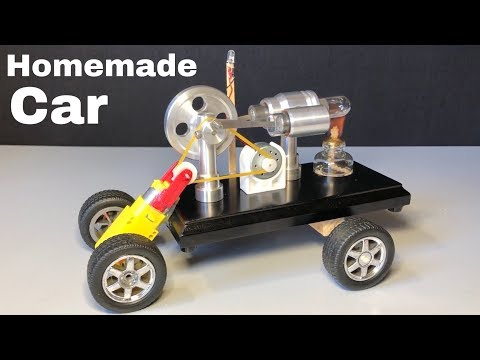 How to Make a Stirling Engine Car - Homemade Car - incredible idea