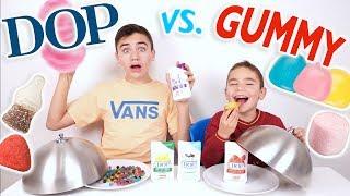 DOP VS GUMMY FOOD CHALLENGE - Gel Douche ou Bonbons ?
