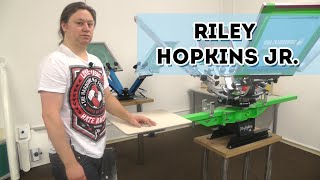 Riley Hopkins Jr. Siebdruckkarussell - Siebdruckmaschine- Screen Printing Press Europe
