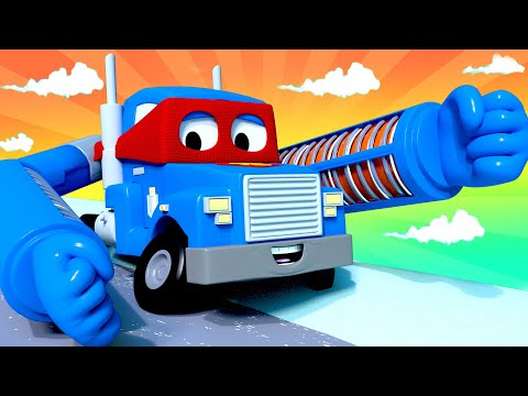 The radiator truck  - Carl the Super Truck - Car City ! Cars and Trucks Cartoon for kids