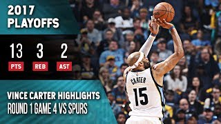 Vince Carter Highlights Playoffs Game 4 Grizzlies vs Spurs (04.22.2017) 13pts, Fine Wine!