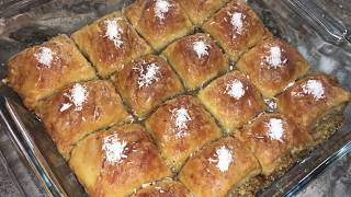 Легкий и простой способ приготовить турецкую пахлаву из слоеного теста.