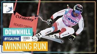 Beat Feuz | Men's Downhill | Beaver Creek | 1st place | FIS Alpine