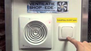 Badkamerventilatoren vergelijken op de testmuur van Ventilatieshop.com