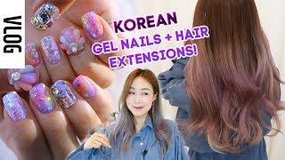 THE VAIN LIFE #1 (hehe) Gel Nails & Hair Extensions in Korea! | meejmuse