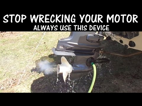 Running Your Outboard Boat Motor On Land