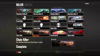 How to unlock the Master Killer Calling Card in Black Ops 2 - Chain Ultra Killer Player Cards