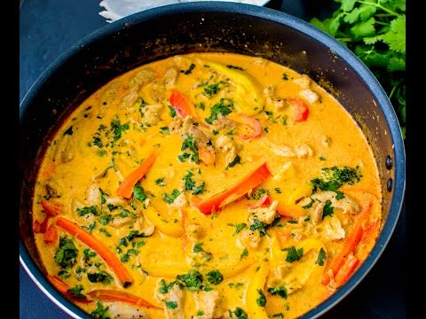 Authentic Thai Red Chicken Curry