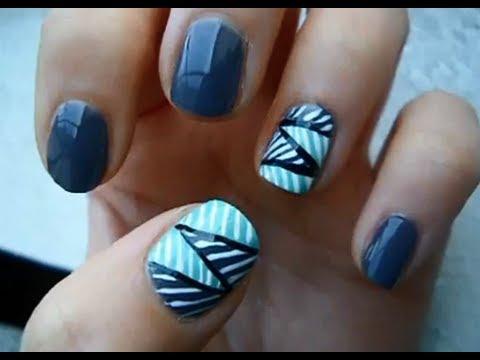 Zig Zag Striped Nail Tutorial