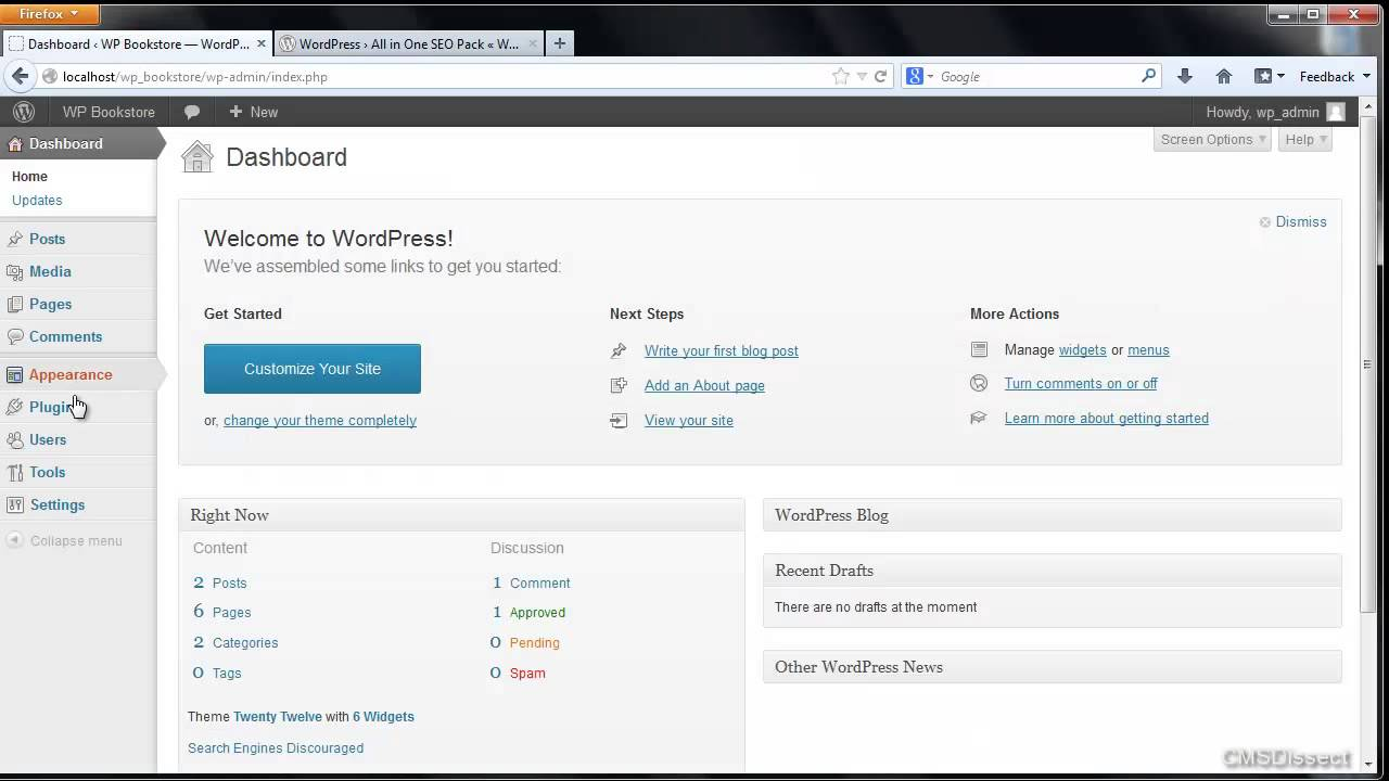 Wordpress Tutorials -- Install Plugins Via Localhost or Local Computer (By CMSDissect)