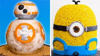 Movie Themed Cake Decoration Ideas | BB-8 Star Wars Cake & Minion Cake by So Yummy