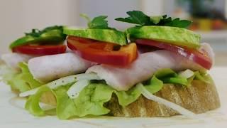 Бутерброд с ветчиной. Просто Вкусно Рецепты от Хлебозавода №1