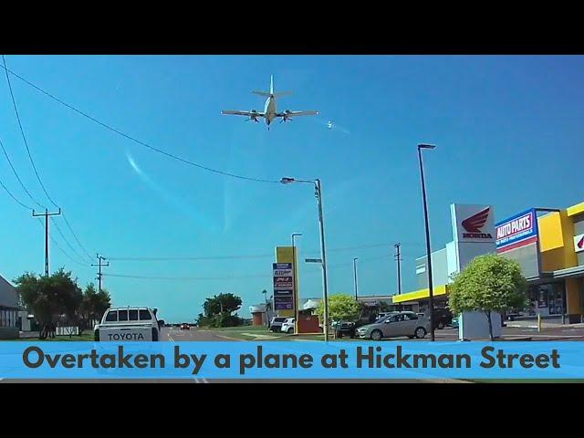 Darwin Airport, overtaken by a plane at Hickman Street in Winnellie.