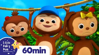 5 Little Monkeys Swinging In The Tree | +More Nursery Rhymes | ABCs and 123s | Little Baby Bum