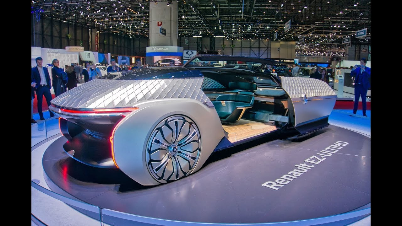 Renault's EZ Ultimo Concept Car   Robo vehicle Is A Luxury Self Driving Lounge at Geneva Motor Show